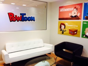 PowToon office, office design, office space, animation, presentation, presentation software, design, interior design
