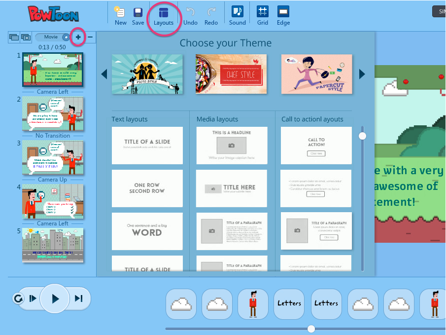 layouts powtoon