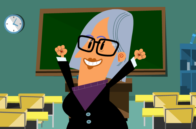cartoon teacher powtoon